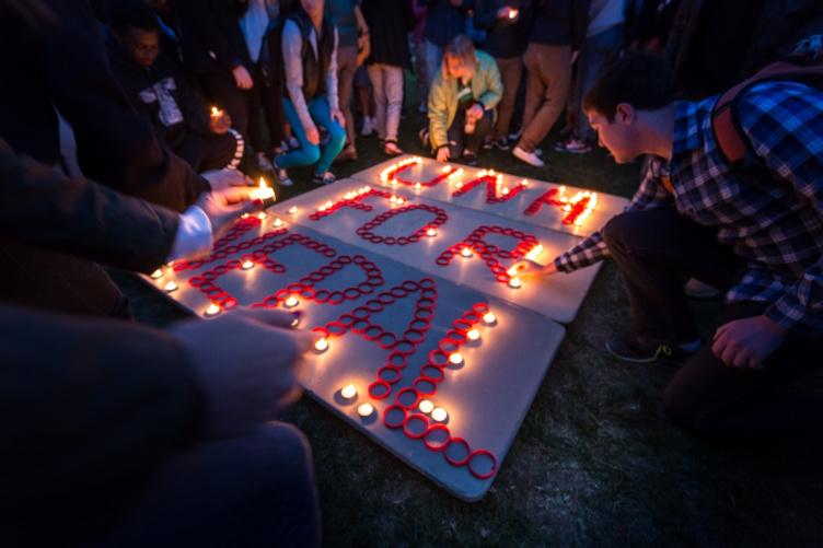 Candlelight vigil for Nepal eartquake