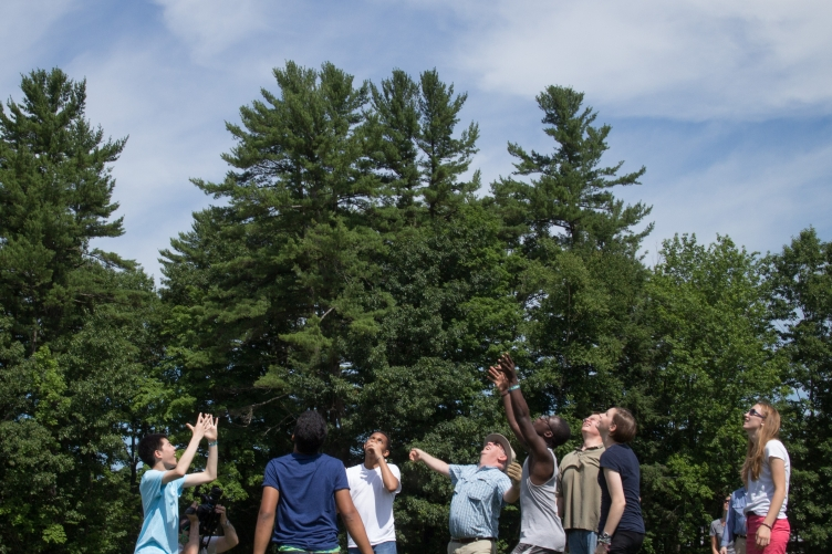 project smart students releasing science balloon