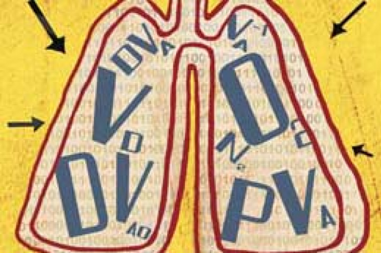 drawing of lungs