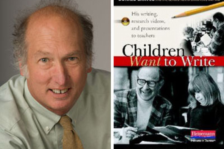 thomas newkirk with book cover on children's writing