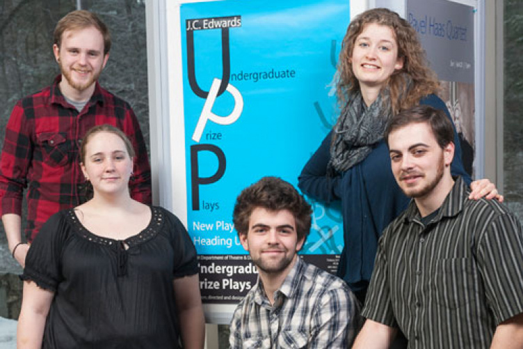 theatre students from undergraduate prize plays