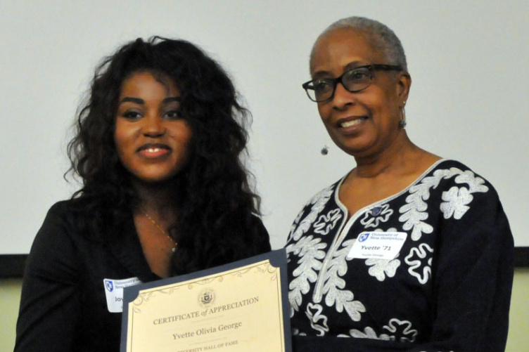 yvette george with student