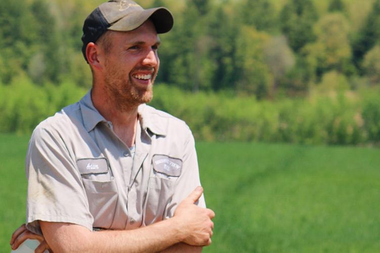 A New Hampshire farmer