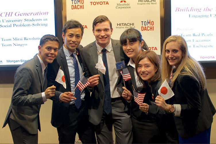 Students in the TOMODACHI program