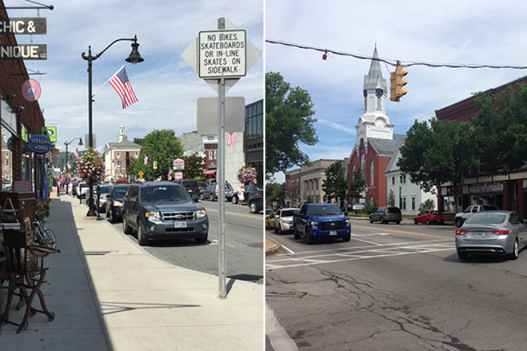 the downtown areas of Littleton and Rochester NH