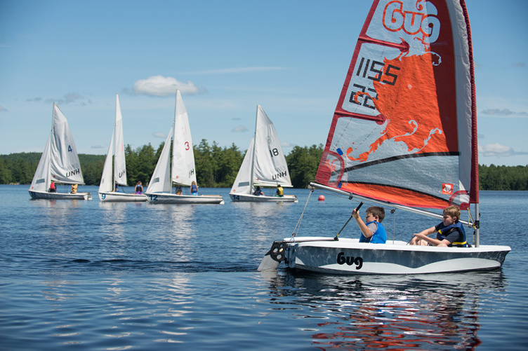 Youth taking part in a UNH summer sailing camp