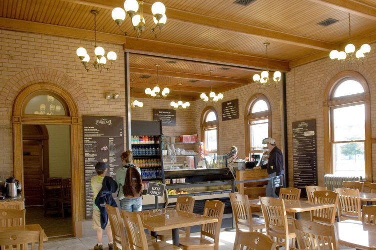 Interior of the UNH Dairy Bar