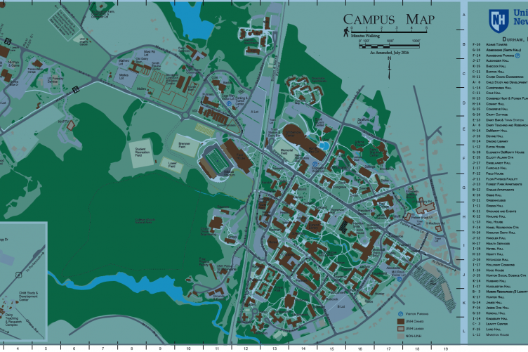 Unh Campus Map New Campus Maps Available | UNH Today Unh Campus Map