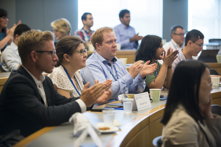 Doctoral student fellows engage in a session at the PDMA global product development consortium