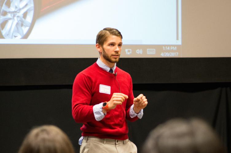 UNH PhD student Drummond Biles