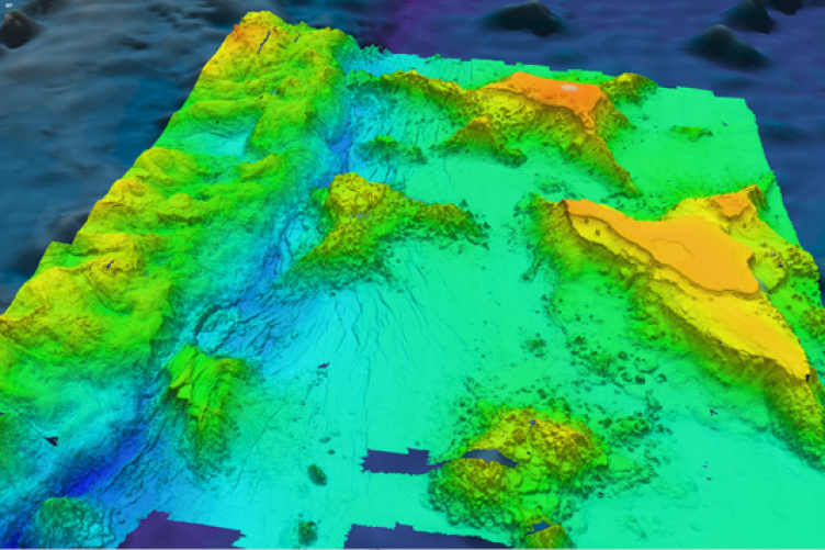 map of ocean floor