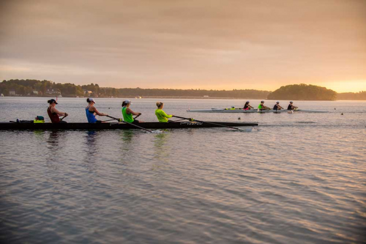 UNH rowers at practice