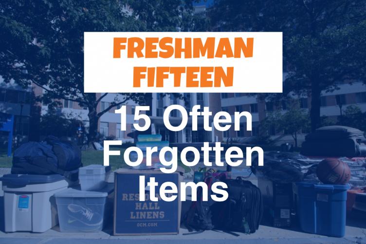 Fifteen often forgotten items graphic