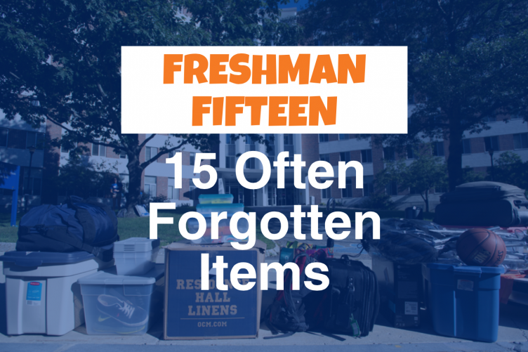 Fifteen often forgotten items graphic