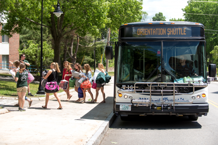 Shuttle from June Orientation at UNH