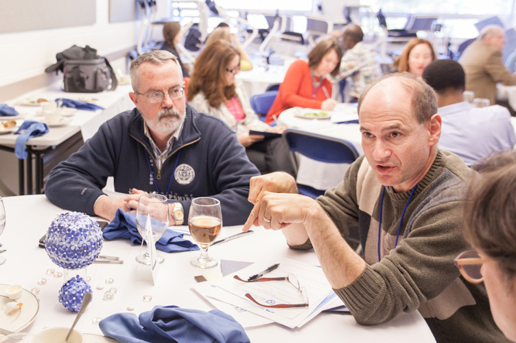 James Farrell and David Kaye at networking event