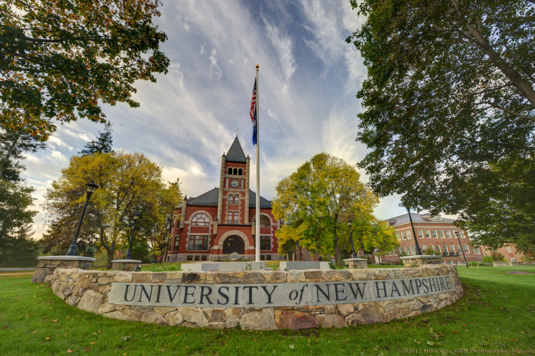 Thompson Hall at UNH from the front
