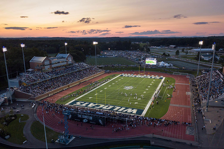 aerial view of UNH's Wildcat Stadium
