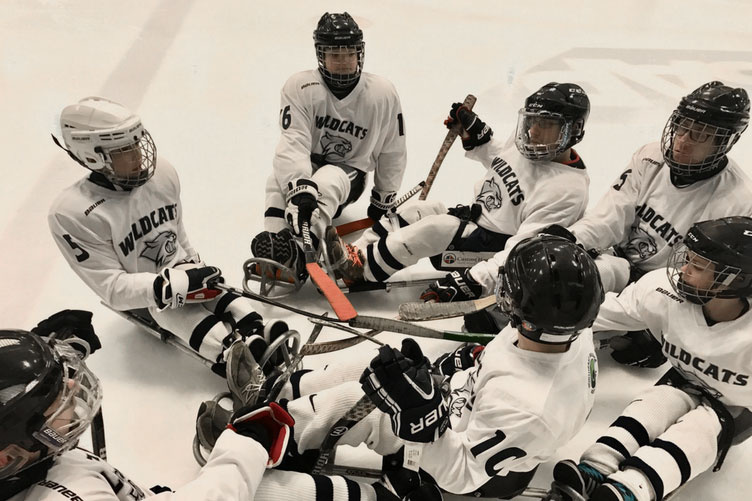 UNH Northeast Passage Youth Sled Hockey Team