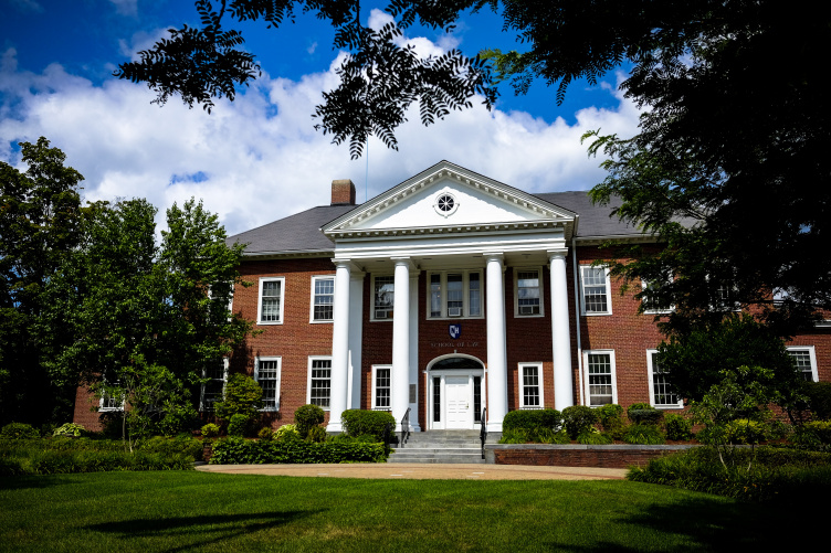 exterior of unh law in summer