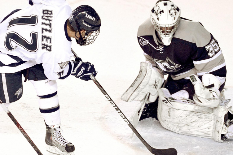 Bobby Butler on the ice at UNH
