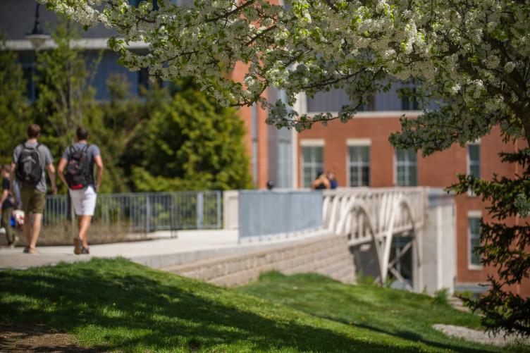 UNH campus in Durham, spring 2018