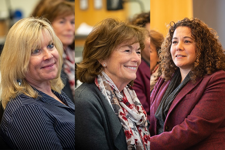 3 photos: Andy Coville '82, Natalie Jacobson '65, Katie Bouton '96