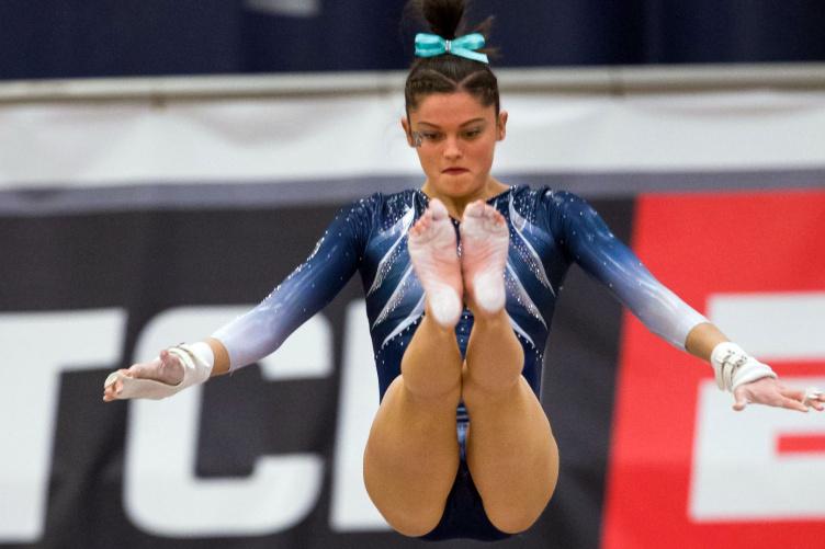 A UNH gymnast