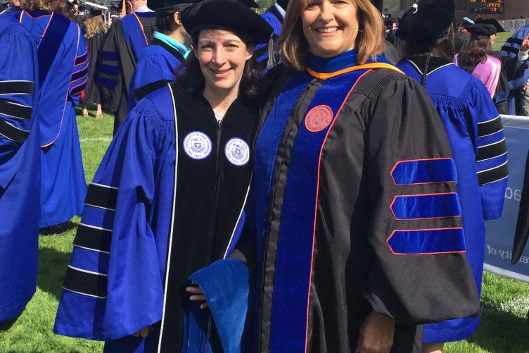 Dr. Erika Baril and her advisor, Dr. Leslie J. Couse