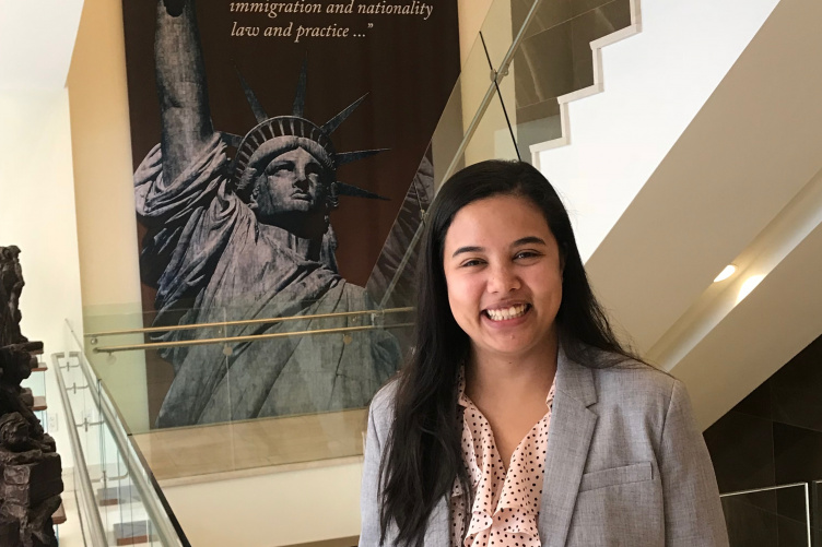 Image of Jiedine at her internship