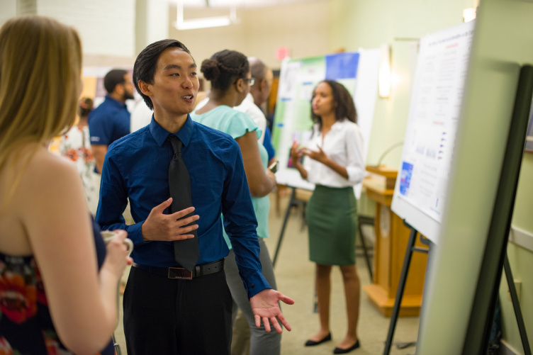 UNH McNair scholars presenting the results of their research