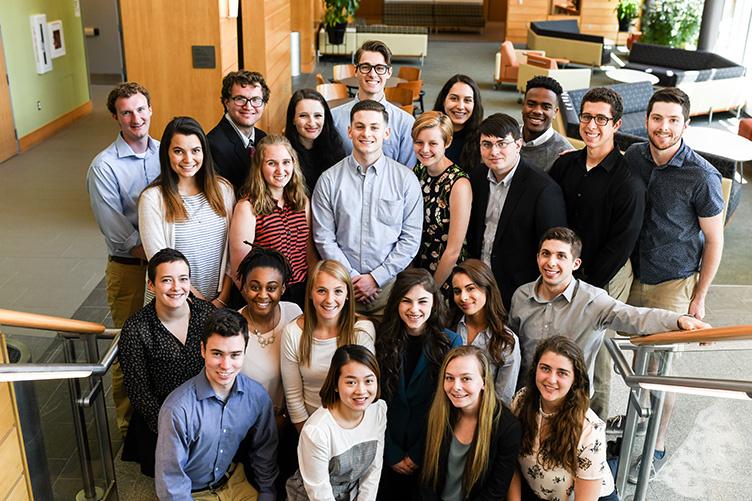 group photo of interns