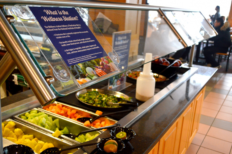 Wellness food station at UNH