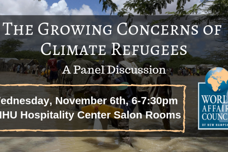 WACNH Climate Refugees panel discussion, Nov 6