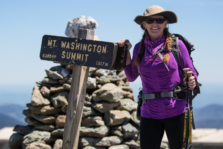 UNH's Beth Fisher '19 on Mount Washington