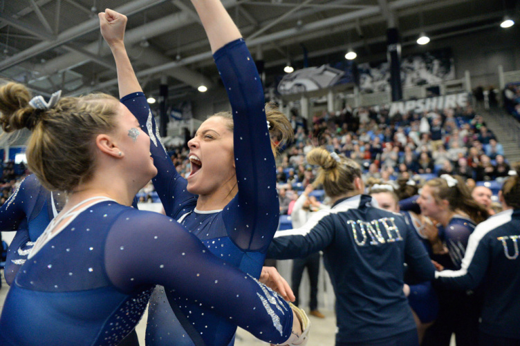 UNH gymnasts celebrate EAGL victory
