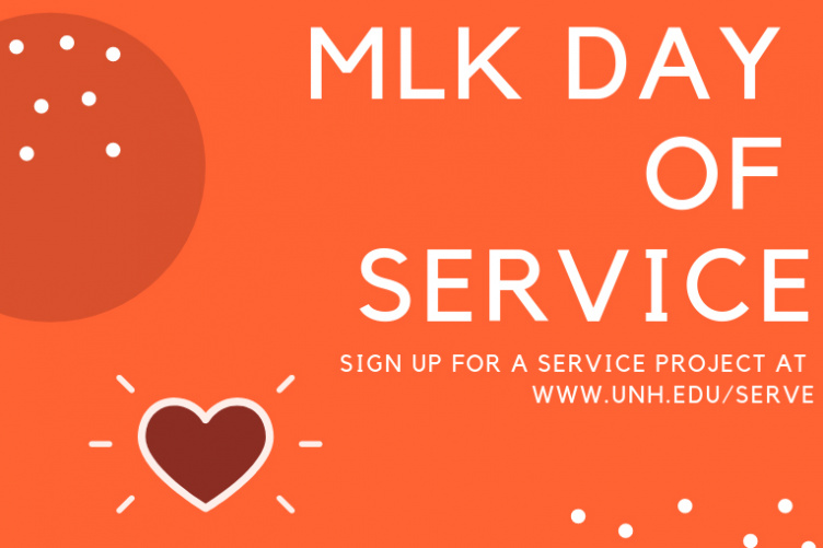 UNH MLK Day of Service Poster