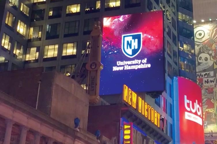 NYC waterfall billboard