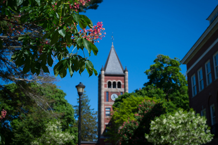 A view of UNH's Thompson Hall
