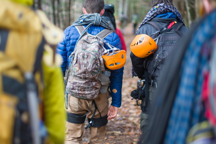 Outdoor therapy students at UNH