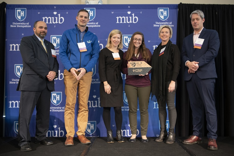 Marisa Rafal '19, '20G (fourth from left) with judges from the NH Social Venture Innovation Challenge.