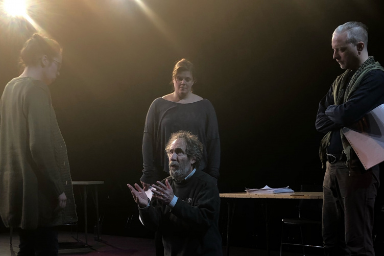 David Richman rehearses Lives of Tiresias at UNH