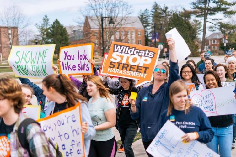 students walk for sexual assault awareness