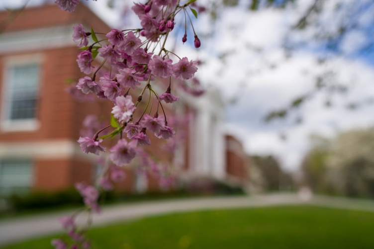 Hamilton Smith Hall on UNH campus in spring