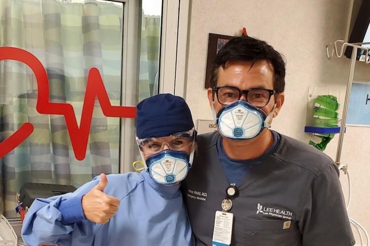 Nurses wearing Evon masks