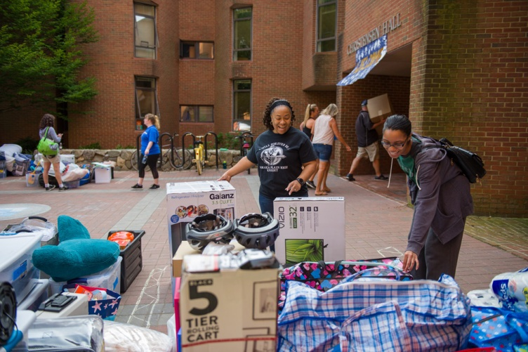 Yard sale items from students' dorm rooms