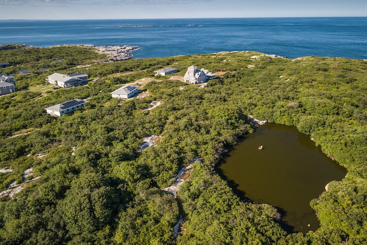 Aerial view of shoals marine lab