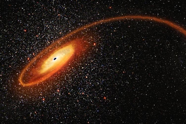 sky with black hole