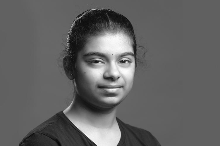 Harshi Karedla '21, a neuropsychology major at UNH Manchester