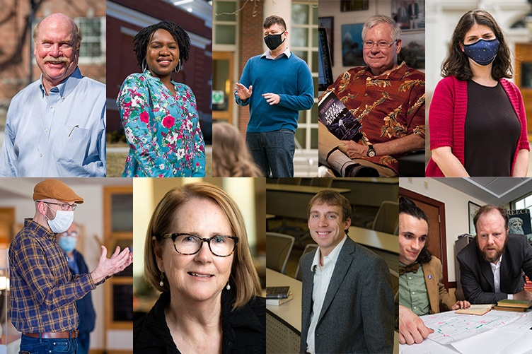montage of faculty award winners